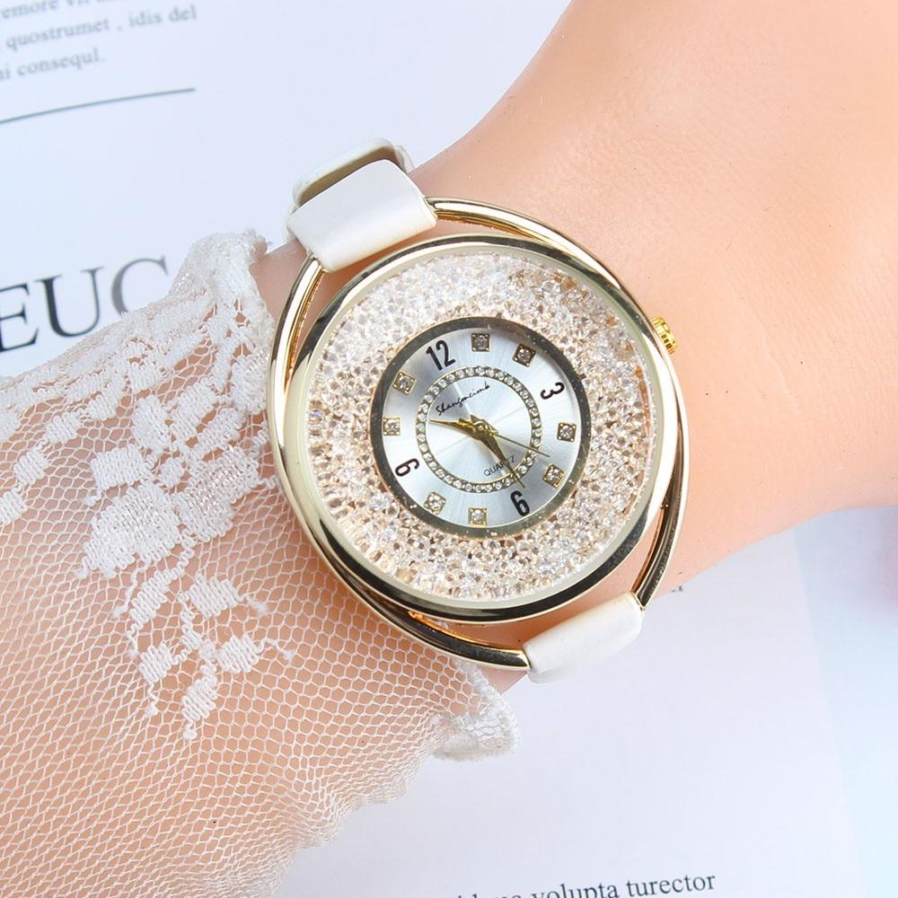 Luxus Marke Frauen Uhren Mode Casual Analog Quarz Uhren Strass Armband Uhr Kreative Jun13 Starker Widerstand Gegen Hitze Und Starkes Tragen Uhren