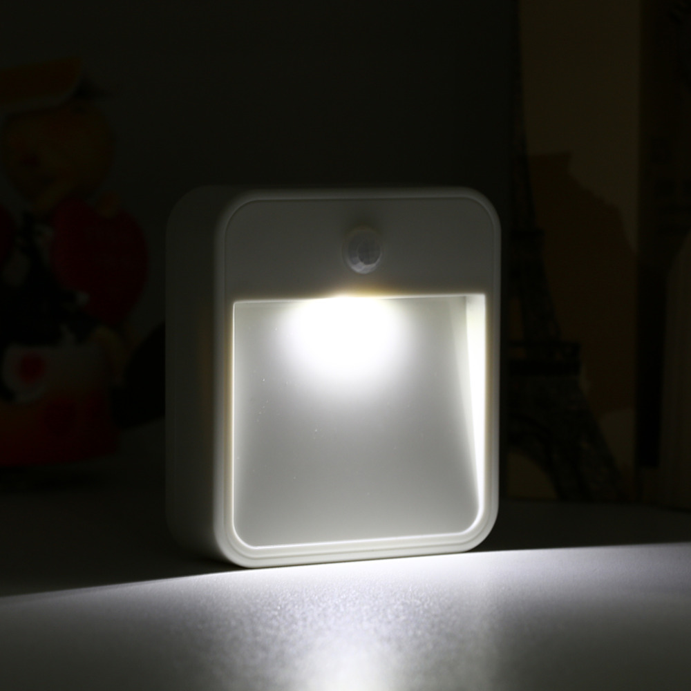 Hot 0.5W Motion Activated Cordless sensor light Led infrared sensor lamp small night light wall lamp bed-lighting Free Ship New icoco sound control light 3w e27 light bulb voice activated intelligent led sensor lamp small night light for corridor bedroom