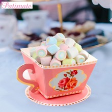 PATIMATE 10Pcs Candy Boxes and Gift Bags Tea Party Favors Wedding Candy Box Birthday Party Decor For Kids Candy Box Wedding Gift цена и фото
