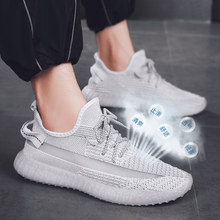 bbaacdd6385 Breathable Yeezys Air 350 boost v2 Men running shoes Male catwalk shoes  comfortable star luminous Sneakers men zapatos