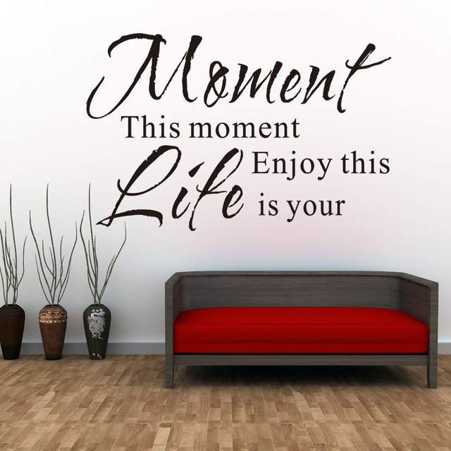 Life Wall Quotes Beauteous Dctop Enjoy This Moment Is Your Life Wall Stickers Retro Phrases