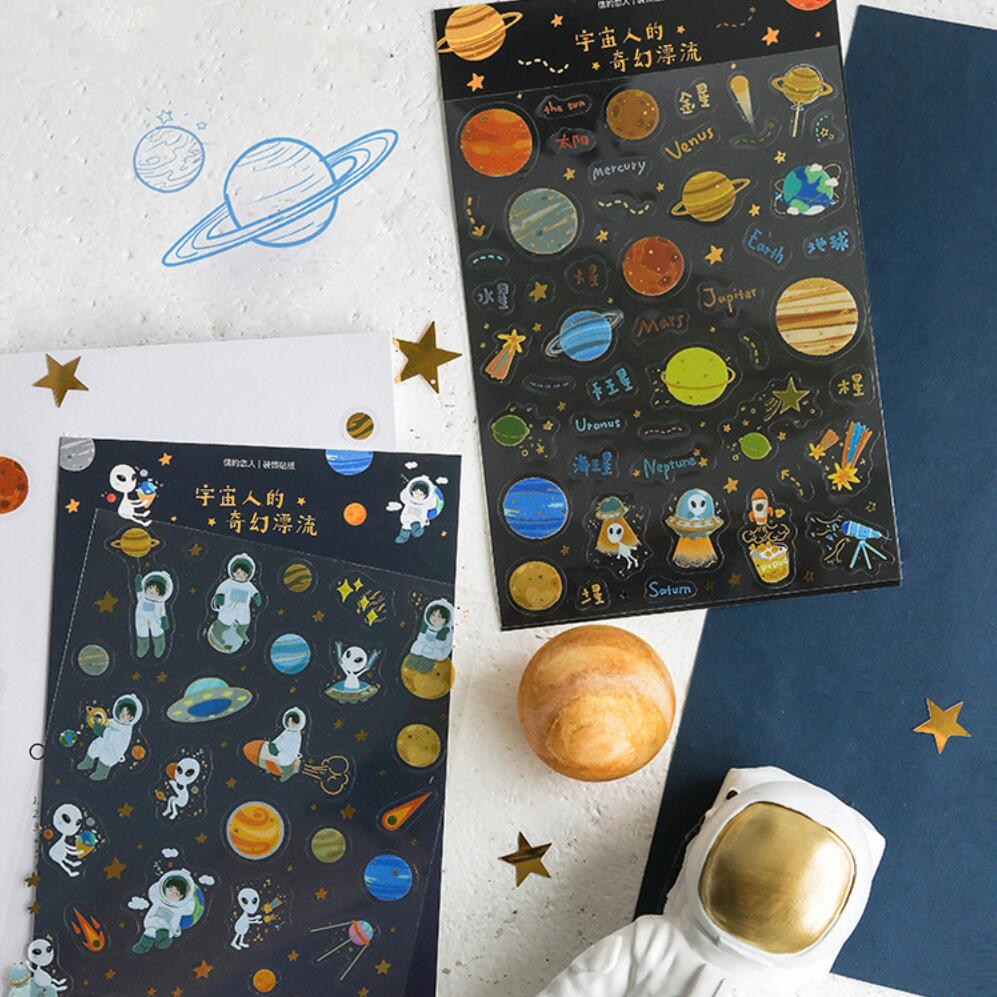 Universe Fantastic Drifting Bullet Journal Decorative Stationery Craft Stickers Scrapbooking DIY Diary Album Stick Label