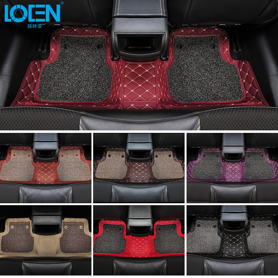 Hot Sale Car Floor Mats Car Styling 7 Colors Custom Made Perfectly Fit for Chevrolet Cruze Malibu Trax Smelless Car Floor Carpet car accessorie carpet car floor mats for chevrolet captiva epica trax malibu cruze sonic custom carpet fit