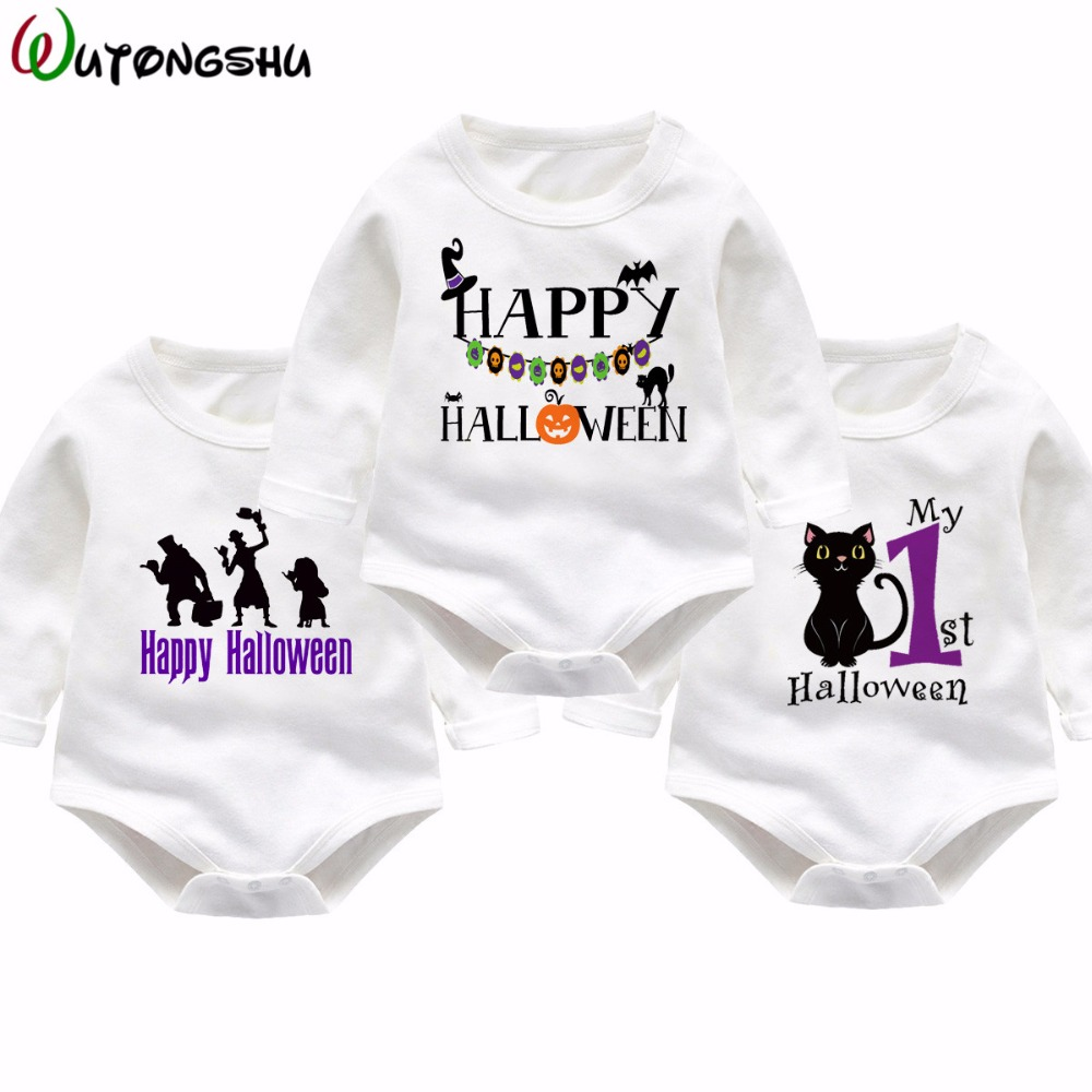 My First Halloween Newborn Baby Clothes Cotton Long Sleeve Rompers Infant Jumpsuit Clothing Set Kids Autumn Winter Clothes Wear baby clothes 100% cotton boys girls newborn infant kids rompers winter autumn summer cute long sleeve baby clothing