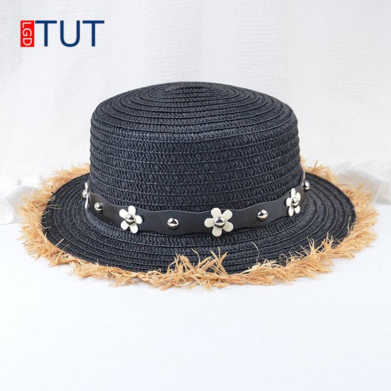 Spring and summer Daisy flower diamond female straw hats beach hat sun hat for women topper Panama hats for girls women's cap