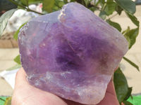 567g(1.24 lb) NATURAL Amethyst Purple Quartz Crystal Point China BPA029