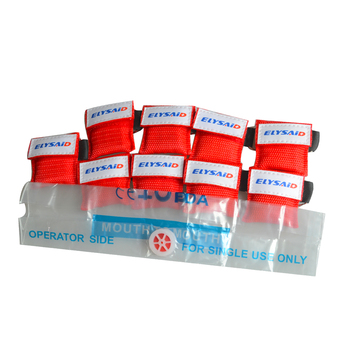 40pcs ELYSAID CPR Resuscitator Mask One-way Valve For First Aid CPR Training Rescue Face Shield