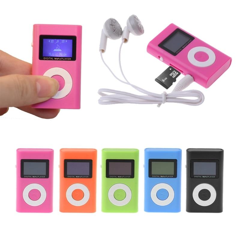 OOTDTY MP3 MX-809 Mini USB Support 32GB Micro SD TF Card LCD Screen Music Digital MP3 Player