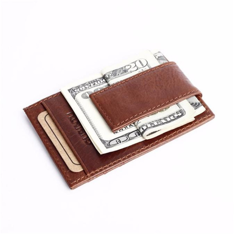 Hot Sale Men Leather Wallet Money Clip Purse ID Credit Holder Coin Clutch Men Business Cards Pack Cash Pocket  DropShipping vintage bifold wallet men handbags purse coin money bag male leather credit id card holder billfold purse mini wallet hot sale