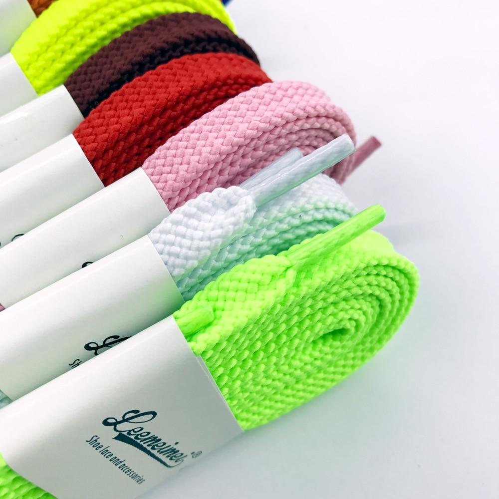 1Pair 100CM//120CM//140CM//160CM Cotton Thick Flat Shoelace Sports Casual Shoe KQ