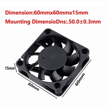 Gdstime 20 Pieces 12V 60x60x15mm Two Ball Bearing 6015 6cm DC Brushless CPU Cooler PC Cooling Fan 60mm x 15mm