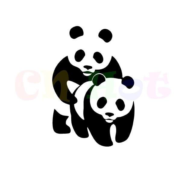 """Juokingi """"Aufkleber Panda"""" juokingi lipdukai su automobilių lipdukais"""