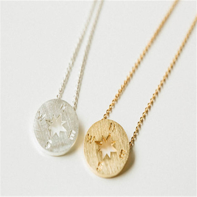 Online shop tiny gold compass necklace gold circle disk necklace tiny gold compass necklace gold circle disk necklace compass pendant necklace aloadofball Images