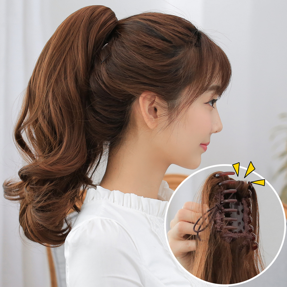 80g Claw Clip Drawstring Ponytail Fake Hair