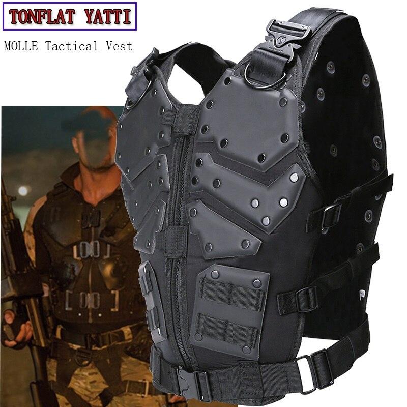 New Tactical Vest Multi-funzionale Tactical Body Armor Outdoor Airsoft Paintball Formazione CS Attrezzature di Protezione Molle Gilet