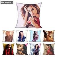 Selena gomez fronhas para almofadas decorativas para casa capa invisível com zíper 40x40  45x45cm|Fronha| |  -
