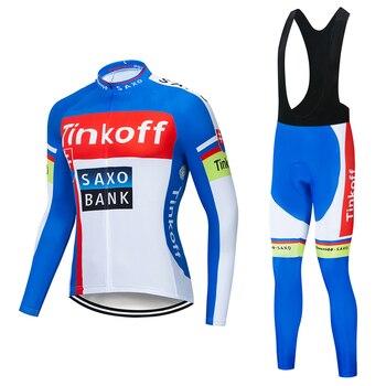 2019 Tinkoff saxo bank manga larga Maillot Ropa Ciclismo Jerseys/otoño montaña bicicleta...