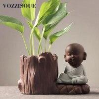 Chinese Style Piante Grasse Planter Ceramic Process Indoor Flower Pot Jardin Desktop Potted Holder Home Decoration Mini Macetas