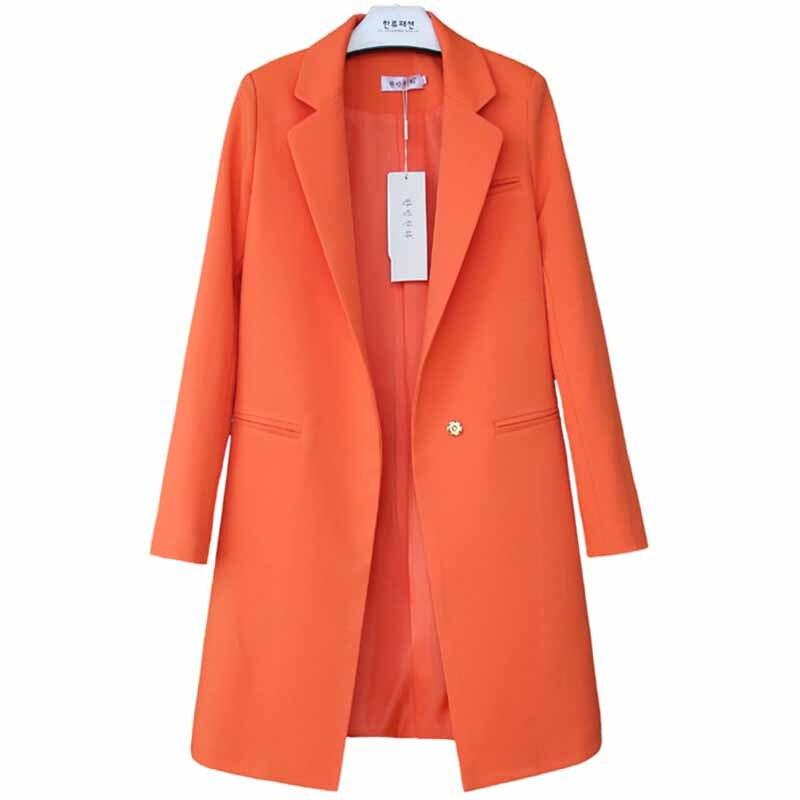 Fashion Spring Casual Blazers Jackets Women Plus Size Long Sleeve Suits Tops Female Slim Blazers Medium Length Outerwear G276
