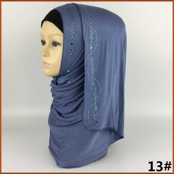 21 off New High quality muslim jersey long scarf 180 58cm