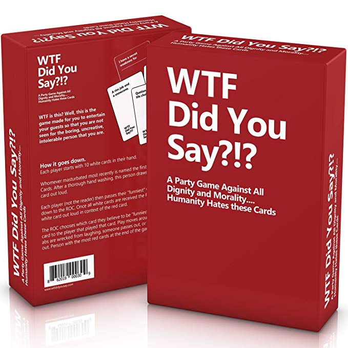 WTF Did You Say A Party Game Against All Dignity and Morality Full Game, XL Set of 594 Cards the dignity of working men – morality