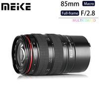Meike 85mm F/2.8 Manual Focus Aspherical Medium Telephoto Full Frame Prime Macro Lens with Portrait Capability for Sony E Mount