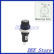 5x20 FuseHolder mini fuse block fuse holder Chassis Panel Mount fuseholder for 5*20mm cylindrical Glass Tube/Ceramics fuse 10A