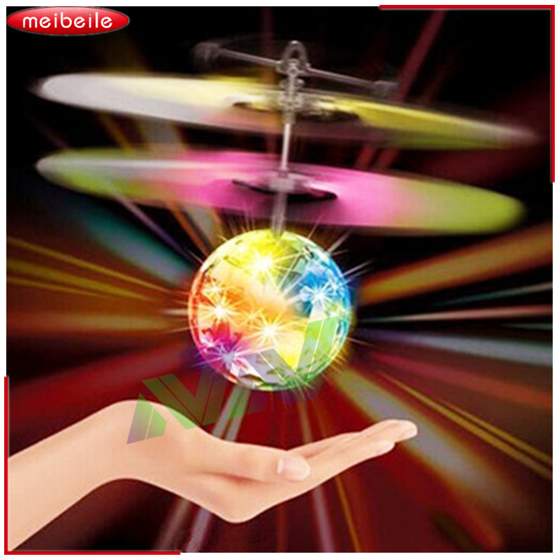 2019 New Electric Flying Ball Luminous Toy Children LED Light Mini Helicopter Infrared Induction Aircraft Flashing Ball For Kids pair of creative luminous led flashing gloves for party ball festival