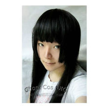 parrucca perruque HOT sell Free Shipping >>>Fashion Long Black Three Flat Knife Cosplay Straight Hair/Wig 1M