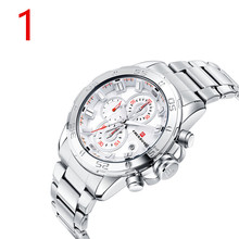 Men's new stainless steel business luxury watch..95