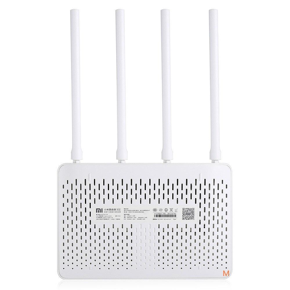 5 pièces D'origine Xiao mi mi Routeur WiFi 3G 1167 Mbps 2.4 GHz 5 GHz Bi-bande 128 MO ROM Wi-Fi 802.11ac Quatre Puissantes Antennes à Gain Élevé