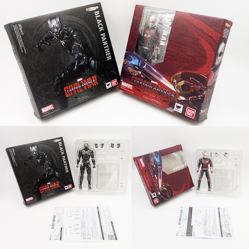6.5 Ant-man Black Panther figma X men TChalla superman antman spiderman deadpool harley PVC action Figures Collection Model toy liss david black panther the man without fear volume 1