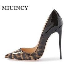 Frauen-pumpen Sexy Leopard Schuhe High Heels Frauen Heels Frauen Schuhe High Heel Hochzeit Schuhe Größe 4-15 UNS