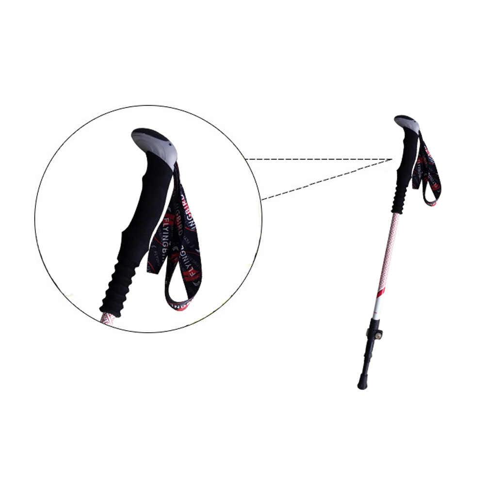 Walking Stick Carbon Fiber Hiking Walking Trekking Pole Trekking Pole Adjustable Lightweight With EVA Grip for Hiking Walking