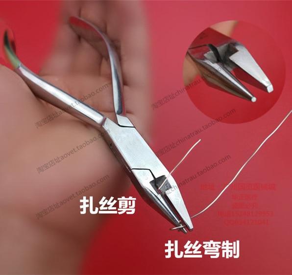 Стоматологичен и ортопедичен инструмент от неръждаема стомана клещи за медицинска употреба клещи тел многофункционални клещи с ножици дължина 13 см