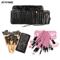 32pcs Mini Pro Makeup Brushes Set Ke Soft Synthetic Hair Make Up Tools Cosmetic Beauty Pink