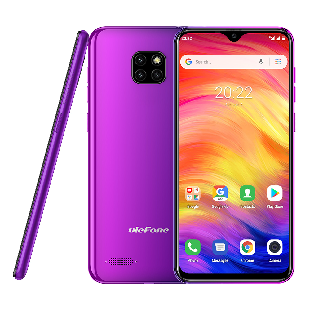Ulefone Note 7 <font><b>Smartphone</b></font> 3500mAh 19:9 Quad Core 6.1inch Waterdrop Screen 16GB ROM Mobile phone WCDMA Cellphone Android8.1 image
