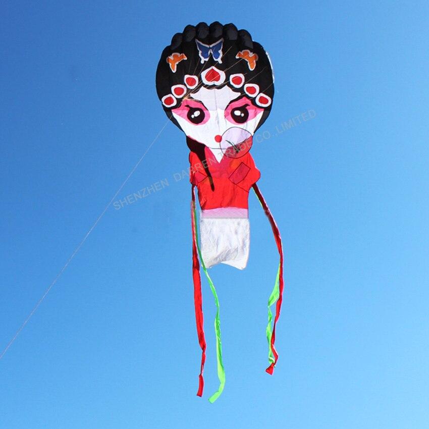 1PC haute qualité chinois traditionnel cerf-volant pékin opéra cerf-volant jouets en plein air pékin opéra masque cerf-volant - 5