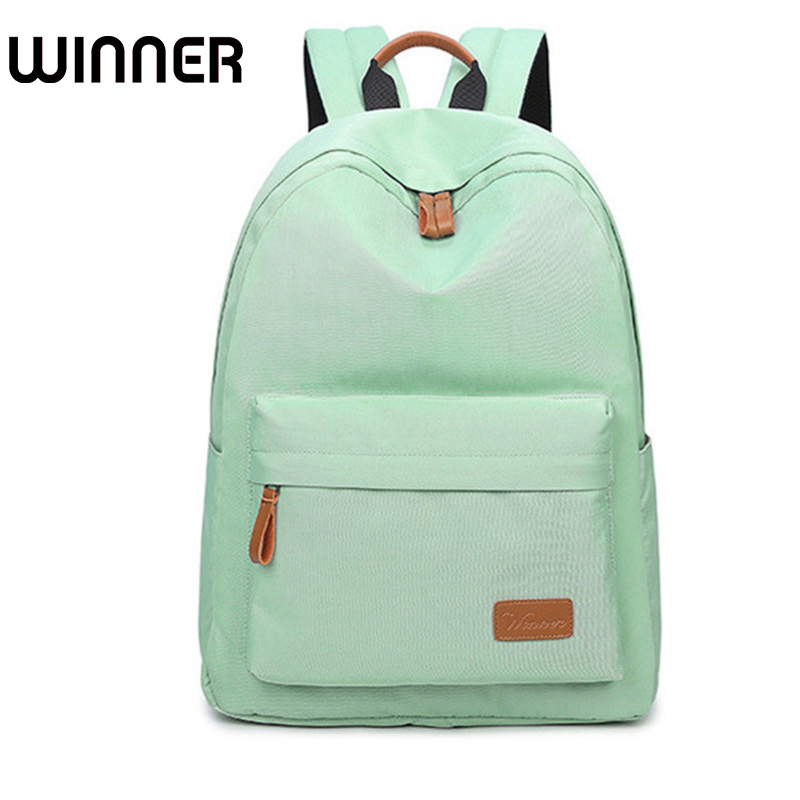 Waterproof Canvas Minimalist Women Backpack Travel Simple School Bag for Teenagers Girls Bookbag