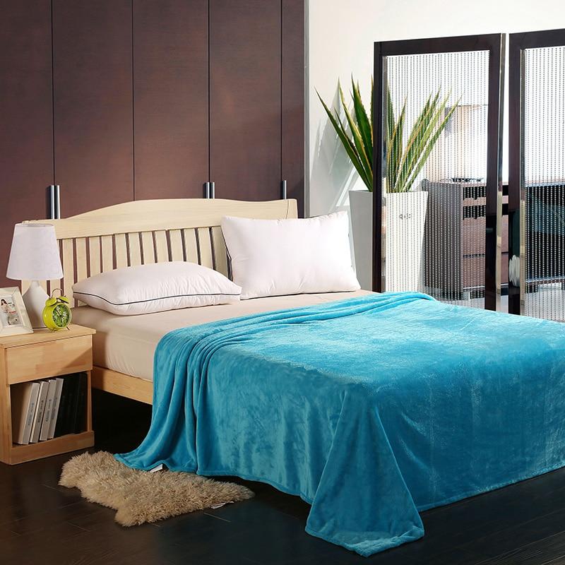 Gökyüzü mavi yaz ev kullanımı battaniye moda stil atmak battaniye pazen elyaf 200x230 cm klima battaniye