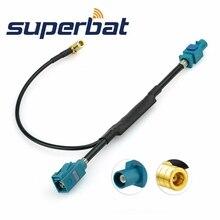 Superbat אוניברסלי Fakra Plug לשקע אווירי אנטנת DAB + ספליטר מתאם SMB רכב רדיו