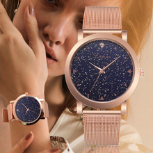 Lvpai Brand Luxury Starry kobiety zegarki Steel Quartz Ladies Rose bransoletka zegarek casual zegar Lovers Girl zegarek na rękę Relogio tanie tanio 39mm Stopu Okrągłe No waterproof Szklane Fashion Casual 17 5mm F1LP303 Klamra Brak 23 5 cm No package 8 3mm