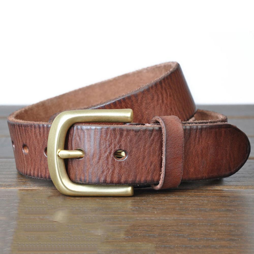 Image 3 - FAJARINA 3.8cm Wide Top Quality Men's Retro Styles Man Fashion Genuine Leather Men Pin Buckle Belts for Men Leather Belt NW0033-in Men's Belts from Apparel Accessories