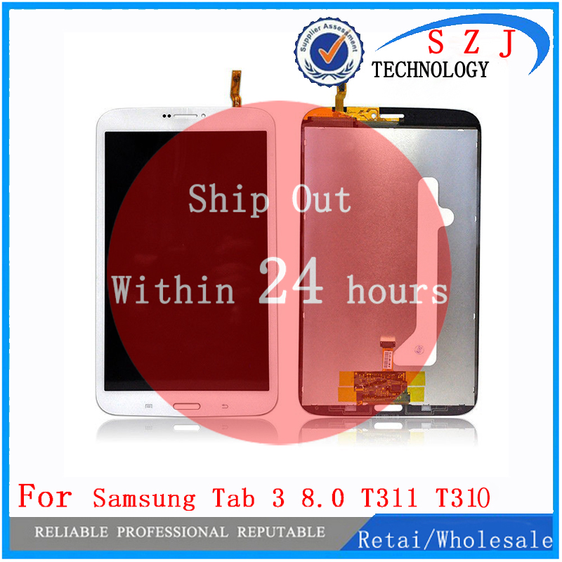 New 8 inch For Samsung Galaxy Tab 3 8.0 SM-T311 T310 T311 T315 SM-T315 LCD Display Screen+Touch Digitizer Assembly bk 310 bluetooth v3 0 ultra thin 59 key keyboard for samsung galaxy tab 3 t310 t311 blue