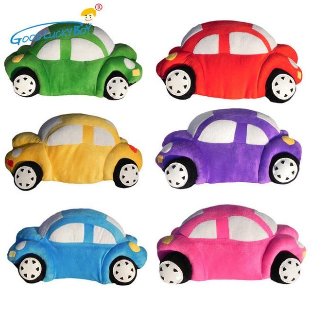 35cm cute kids cars model stuffed toys children brinquedos for kids kawaii car shape plush cushion pillow