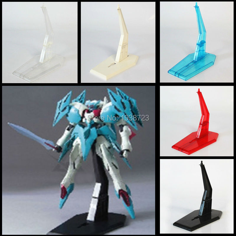 10 Pcs 5 Color Action Figure Base ABS Plastic Suitable Simple Display Stand Bracket for 1/144 HG/RG SD <font><b>BB</b></font> <font><b>GUNDAM</b></font> Christmas Gift image