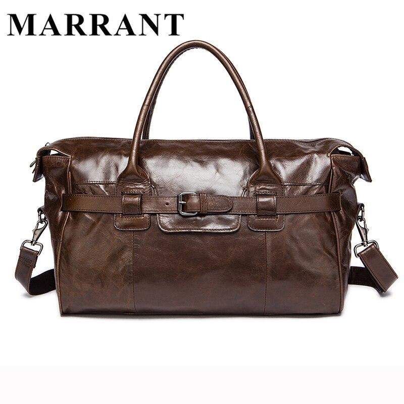 MARRANT Genuine Leather Men Travel Bags travel luggage Man fashion Totes Luggage Big Bag Male Crossbody Shoulder Handbag 8822