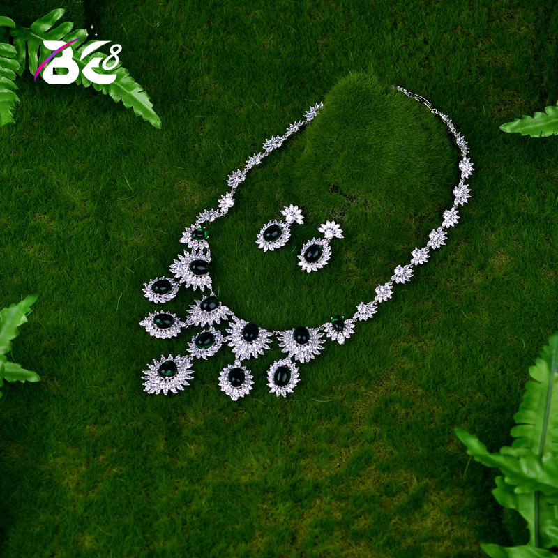 Be 8 New Fashion Necklace and Earring Jewelry Set Flower Shape for Women Fashion Jewelry Party Gift Bijoux Femme S061Be 8 New Fashion Necklace and Earring Jewelry Set Flower Shape for Women Fashion Jewelry Party Gift Bijoux Femme S061