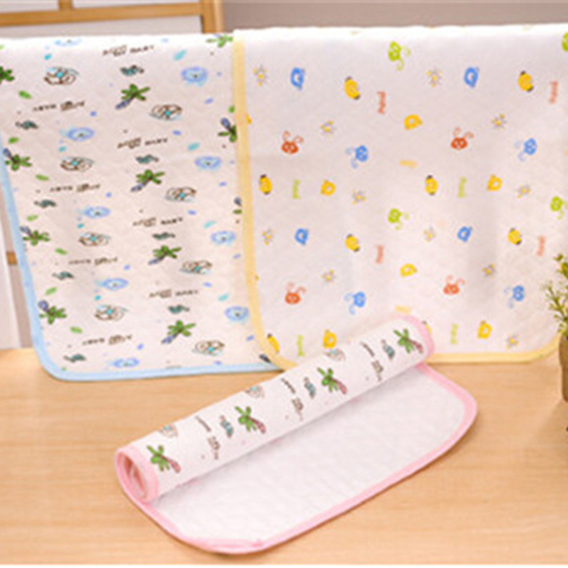 Hot Sale Kids Newbown Cartoon Printed Reusable Nappy Cotton Diapers Mattress Waterproof Sheet Changing Mat Washable Cotton Baby Crib Pad Baby Care Mother & Kids