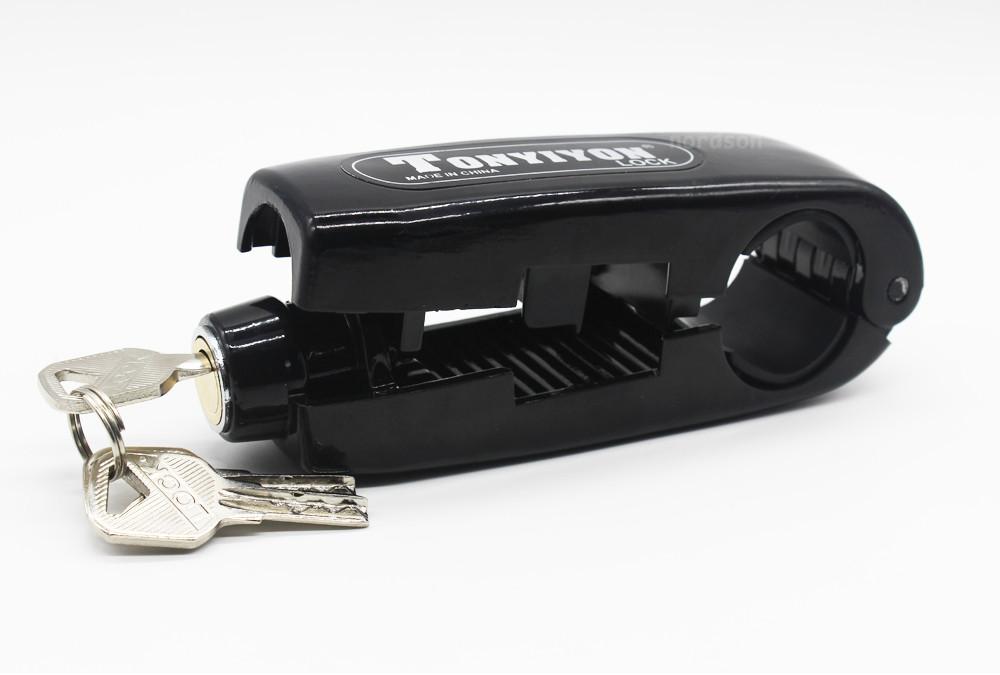Motorbike Handle Theft Protection Lock Brake Throttle